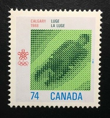 Canada #1198 MNH, Olympic Winter Games - Luge Stamp 1988