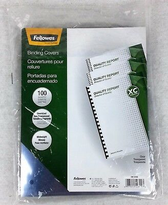 Fellowes Binding Covers Clear Transparent CRC 52309 Qty 94 Oversized Midweight