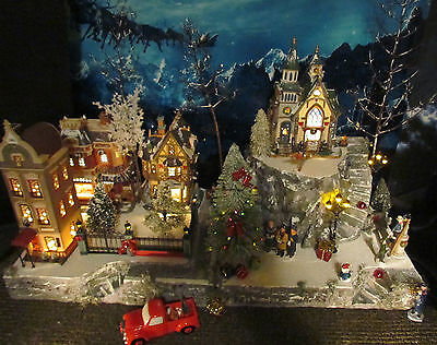 Christmas Village Display MOUNTAIN OVERLOOK platform base 28x12 Dept 56 Lemax F