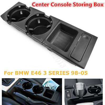 Center Console Drink Cup Tray Holder Coin Storage BOX For BMW E46 3 SERIES 98-05