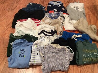 46 pieces for baby boy, Size 0-3 Months mixed bundle of clothes