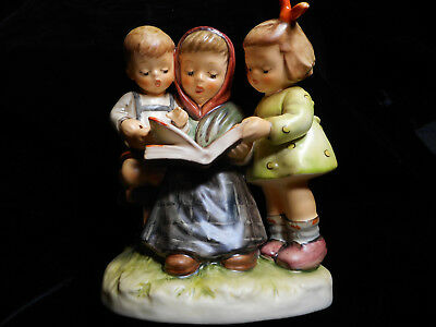 RARE • LARGE STORYBOOK TIME Reading • BOX • COA Hummel MINT First Issue Figurine