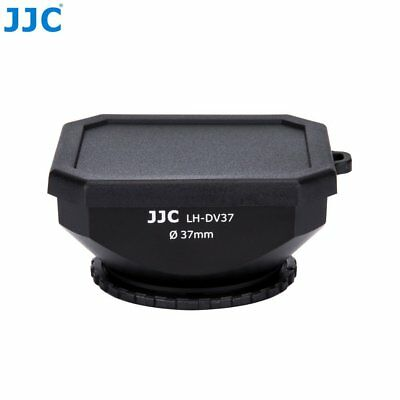 JJC 37mm Screw-in DV Camcorder Square Lens Hood with Cap and Strap LH-DV37B FOR