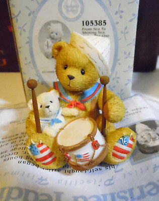 Cherished Teddies ~ From Sea to Shining Sea, You are the One for Me ~ Figurine