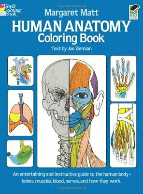 Human Anatomy Colouring Book by Ziemian, Joe Book The Fast Free Shipping
