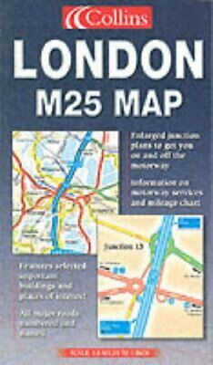 London M25 Map (Road Map) Other cartographic Book The Fast Free Shipping