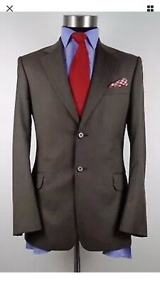MENS PAUL SMITH WILLOUGHBY herringbone single breasted suit 38R W32 31L