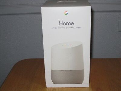Google Home Voice-Activated Speaker Smart Assistant White/Slate BRAND NEW SEALED