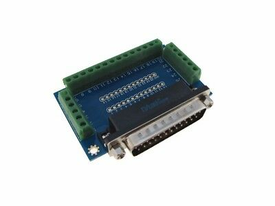 DB25 Male Signals Breakout Board Parallel Port Header Screw terminals