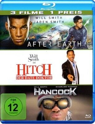 Hancock / Hitch / After Earth Blu-ray NEU OVP Will Smith Pack 3 Filme