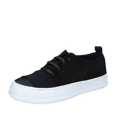 mens shoes FDF SHOES 9 (EU 43) sneakers black suede textile  BZ378-E