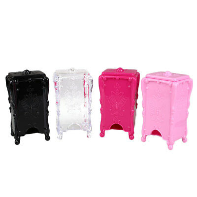 Portable Acrylic Nail Art Cotton Pads Swab Box Case Holder Storage Container