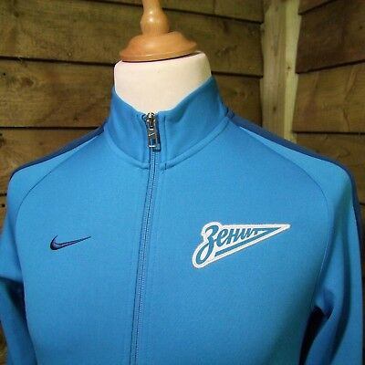 Nike Zenit St Petersburg Football Club Official Track Jacket Blue Small