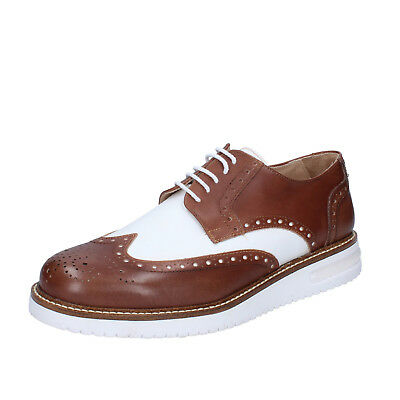 mens shoes FDF SHOES 8 (EU 42) elegant red leather  BZ396-B