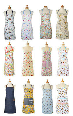 Cooksmart Cotton Apron with Pocket Cooking Baking Kitchen Chef Many Designs