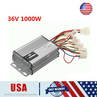 36V 1000W Electric Scooter Speed Brushed Controller Motor For Vehicle Bicycle US