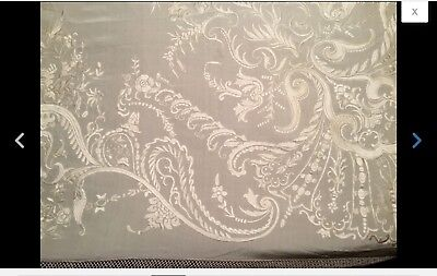 ANTIQUE EARLY 20th CHINESE CANTONESE EMBROIDERED SILK PIANO SHAWL EMBROIDERY