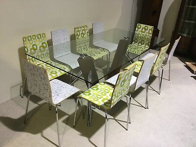 Set Of 10 designer Retro dining chairs very unusual not to be missed