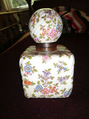 Antique Dresden German Hand Painted Porcelain Ink Well