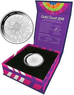 2018 Commonwealth Games $1 Silver  Uncirculated Coin - Limited Mintage