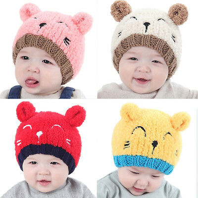 NEW Winter Baby Toddler Kids Girl Boy Warm Cute Beanie Beanie Hat Cap Crochet