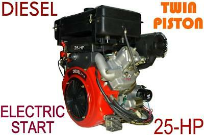 Engine 25hp Diesel portable type, 2 cylinder = PROVEN MODEL, High Torque*******