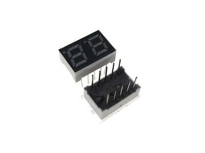 "0.28"" 2 Digit 7-Segment LED Display DIP common cathode - Red - Pack of 2"