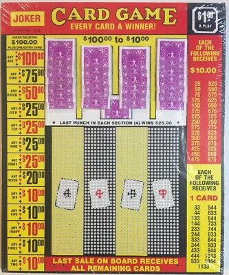 $1.00 JOKER CARD Game Punch Card Money Board Raffle Gambling 1600 Hole