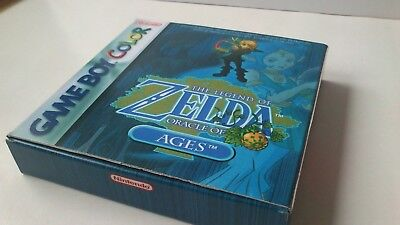 Box Verpackung OVP The Legend of Zelda Oracle of Ages Gameboy Color Kein Spiel!