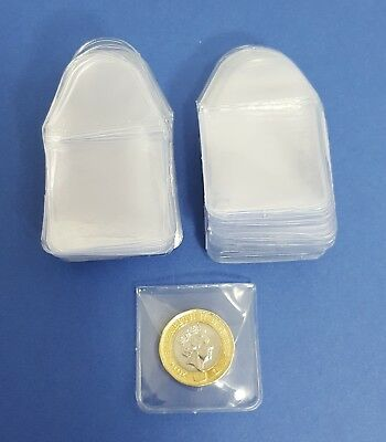 Clear plastic coin wallets storage envelopes
