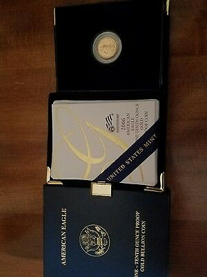 2006-W $5 Gold American Eagle 1/10 Ounce Gold Gem Proof With Box and COA