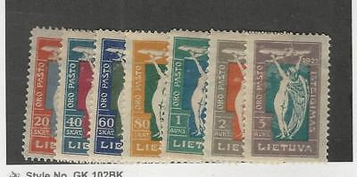 Lithuania, Postage Stamp, #C8-C14 Mint Hinged, 1921