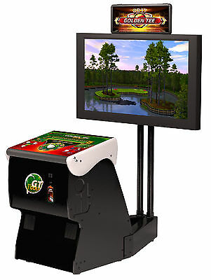 Golden Tee Golf 2018 New In Box , Factory Authorized Unit! FREE SHIPPING