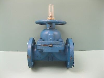"3"" 150# ITT Flanged CI Dia-Flo Diaphragm Valve PP Lined NEW F20 (2265)"