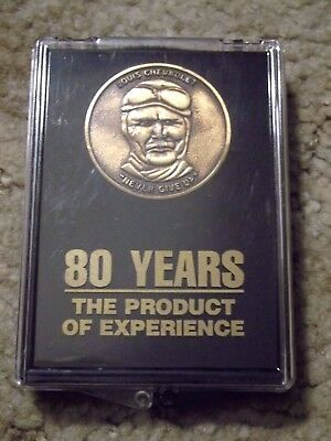 Vintage Louis Chevrolet Never Give Up 80 Years The Product of Experience Coin
