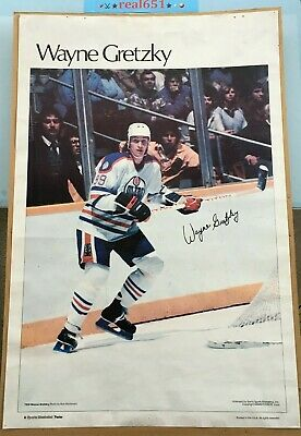 WAYNE GRETZKY Sports Illustrated Poster | Vintage | Oilers | Scarce Iconic Pic