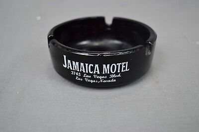 Vintage Hotel Casino Ashtray,  Jamaica Motel , Las Vegas Black
