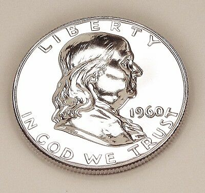 1960   Franklin   Proof   90%   Silver  >Coin  as  Pictured<    #1122    14