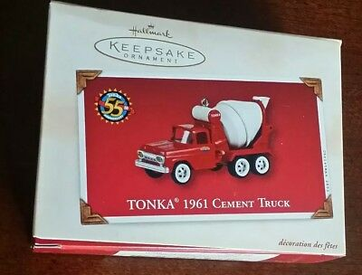 2002 Hallmark Keepsake Ornament, 1961 Tonka Cement Truck, New