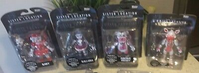 FUNKO Five Nights At Freddy's Sister Location ENNARD SET OF 4 New Action Figures