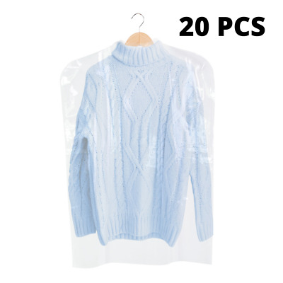 Clear 20pcs Polythene Clothes Covers Garment Storage Protector Bags Quality 38""
