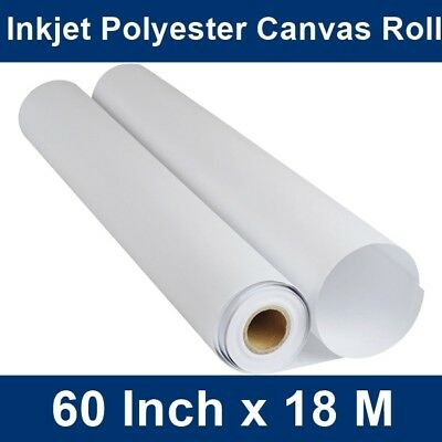 "High Quality Wide Format Digital Inkjet Canvas Roll 60"" x 18m, Acrylic/Oil Paint"
