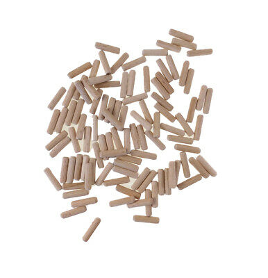 "1/4"" Diameter X 1"" Long White Birch Dowel Pins Bags of 50-1000    R25-2510M-F"