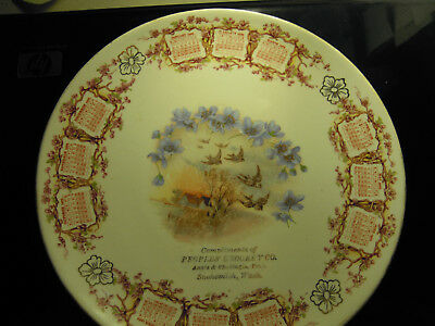 Snohomish Washington 1909 Calendar Plate People's Grocery Co Annish & Shadinges