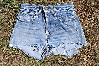 Sexy True Vintage Single Stitch Levis Cut Off Jeans Shorts W 27