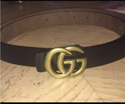 "Womens Genuine Leather Thin Belts For Jeans 0.9 Belt For Womens Pants ""GG"" New"