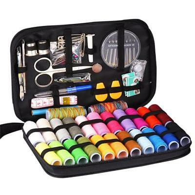 Sewing Kit Measure Scissor Thimble Thread Needle Storage Box Travel Set LJ
