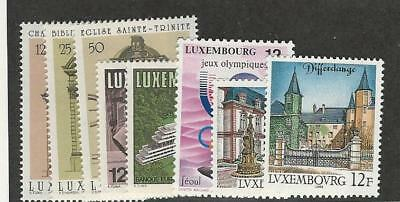 Luxembourg, Postage Stamp, #789-790, 792-797 Mint NH, 1988