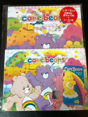 NIP Care Bears Letter Set Lot Stationery Paper / Envelopes From Japan BESTFRIEND