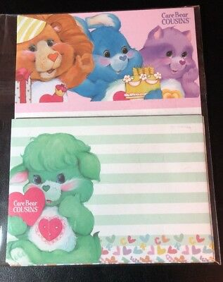 NIP Care Bear COUSINS Letter Set Stationery Paper / Envelopes From Japan